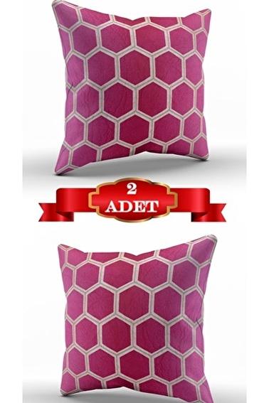 Lady Moda Hexagon Kırlent Kılıfı Renkli